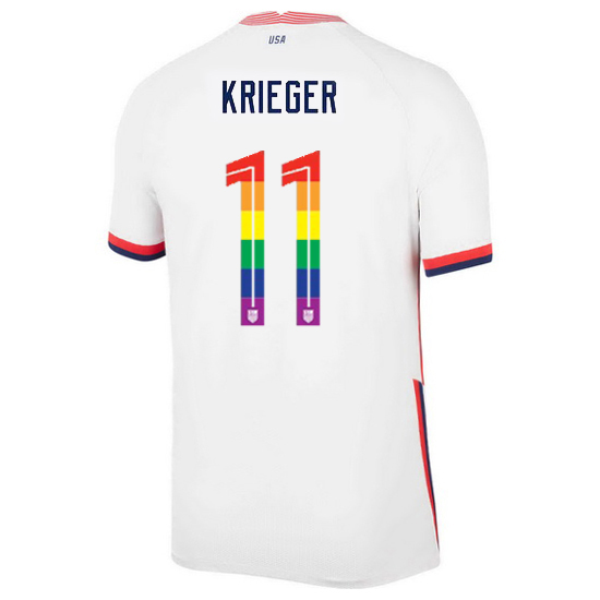USA Home Ali Krieger 2020/21 Men's Stadium PRIDE Jersey