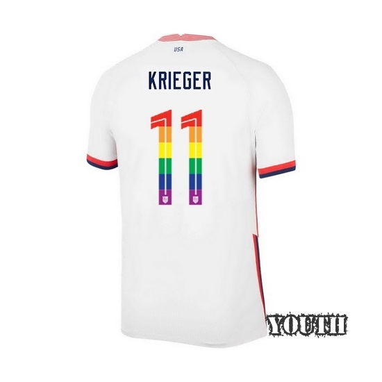 USA Home Ali Krieger 20/21 Youth Stadium PRIDE Jersey