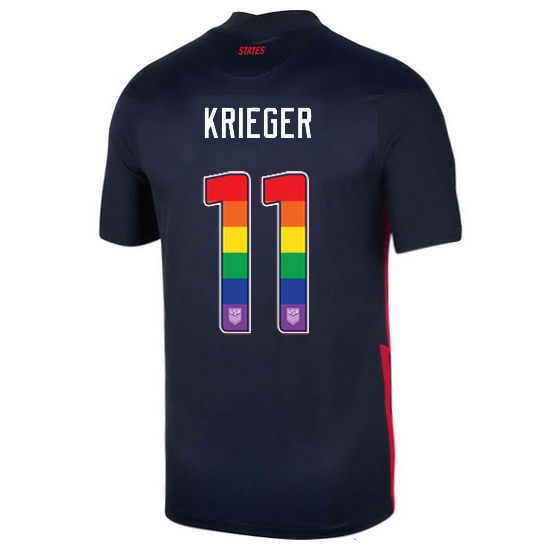 Navy Ali Krieger 2020/2021 Men's Stadium Rainbow Number Jersey