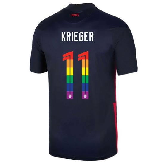 USA Away Ali Krieger 2020/21 Men's Stadium PRIDE Jersey