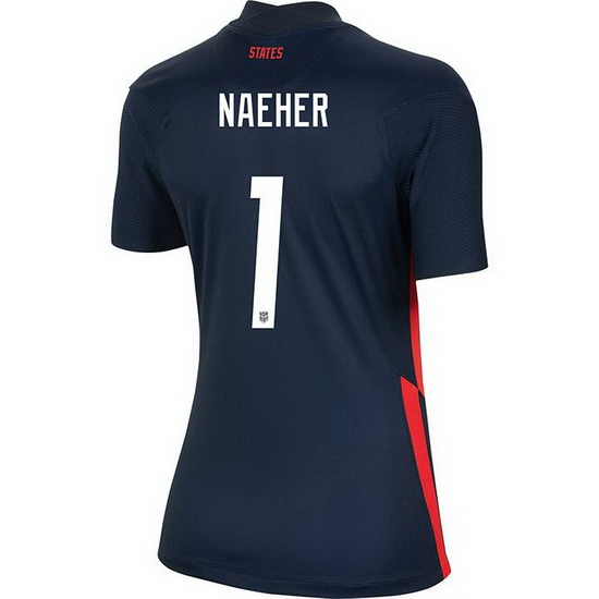 USA Away Alyssa Naeher 2020/21 Women's Stadium Soccer Jersey