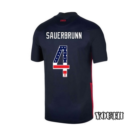 Away Becky Sauerbrunn 2020/21 Youth Stadium Jersey Independence Day