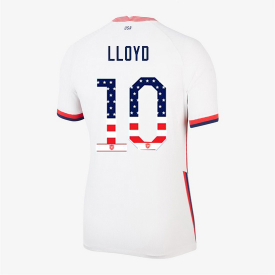 White Carli Lloyd 2020 Women's Stadium Jersey Independence Day
