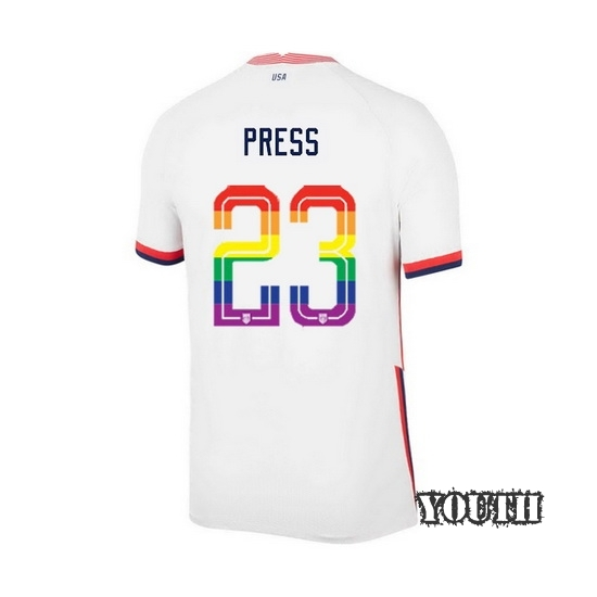 USA Home Christen Press 20/21 Youth Stadium PRIDE Jersey
