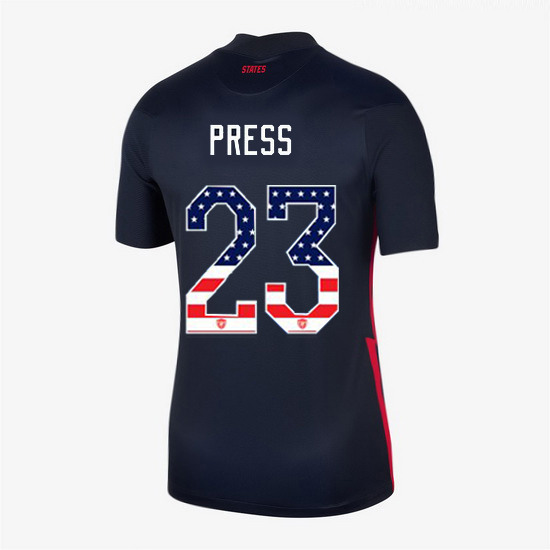 Navy Christen Press 2020 Women's Stadium Jersey Independence Day