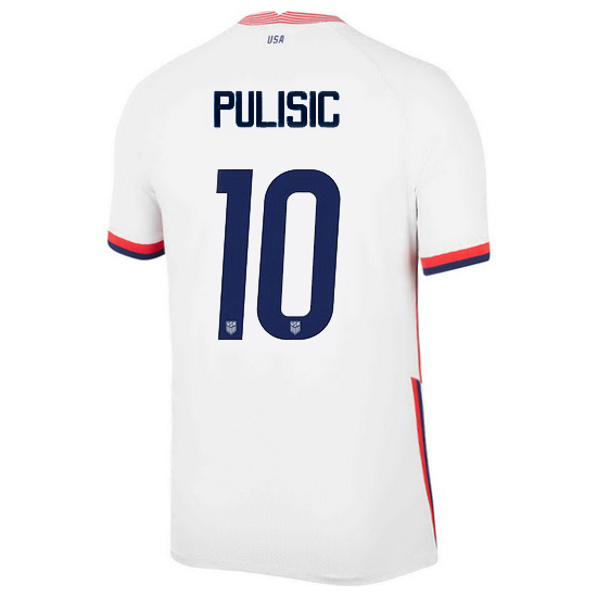 USA White Christian Pulisic 2020 Men's Stadium Soccer Jersey