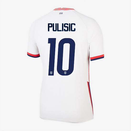USA Home Christian Pulisic 2020/21 Women's Stadium Soccer Jersey