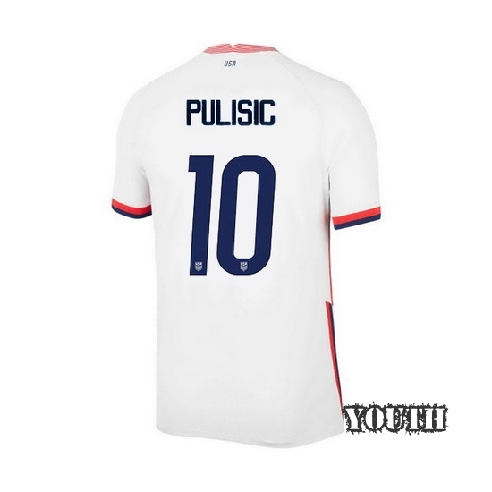 USA White Christian Pulisic 2020/2021 Youth Stadium Soccer Jersey