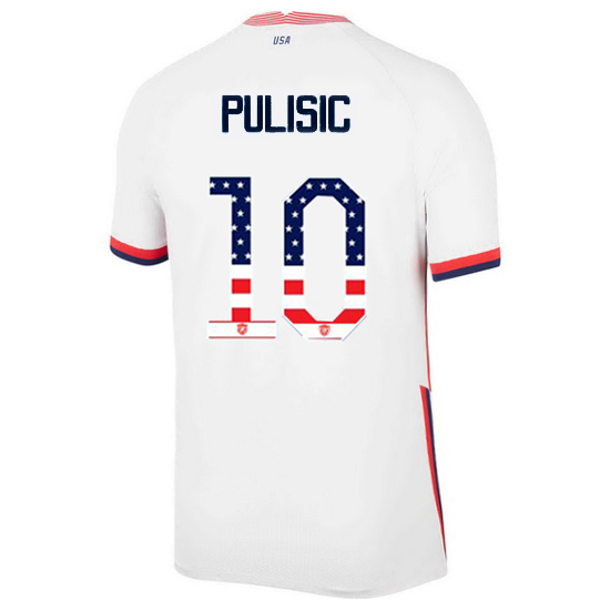 Home Christian Pulisic 20/21 Men's Stadium Jersey Independence Day