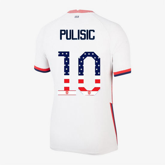 White Christian Pulisic 2020 Women's Stadium Jersey Independence Day