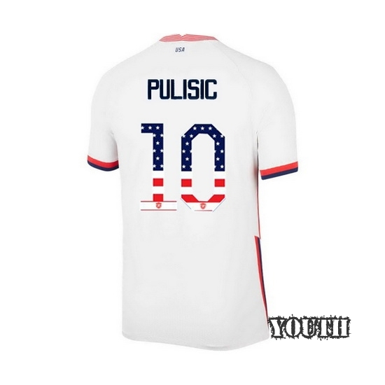 Home Christian Pulisic 2020/21 Youth Stadium Jersey Independence Day