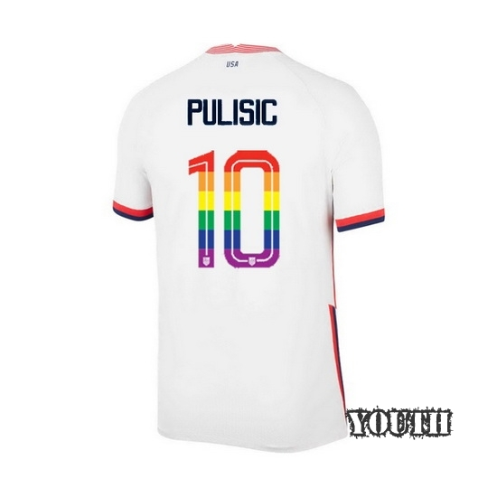 USA Home Christian Pulisic 20/21 Youth Stadium PRIDE Jersey