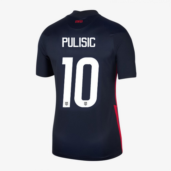 USA Away Christian Pulisic 2020/21 Women's Stadium Soccer Jersey