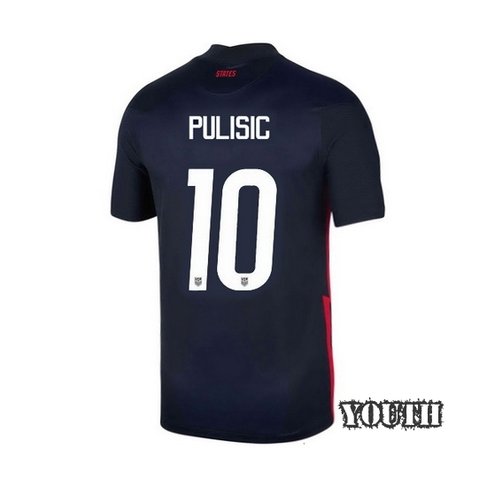 USA Navy Christian Pulisic 2020/2021 Youth Stadium Soccer Jersey
