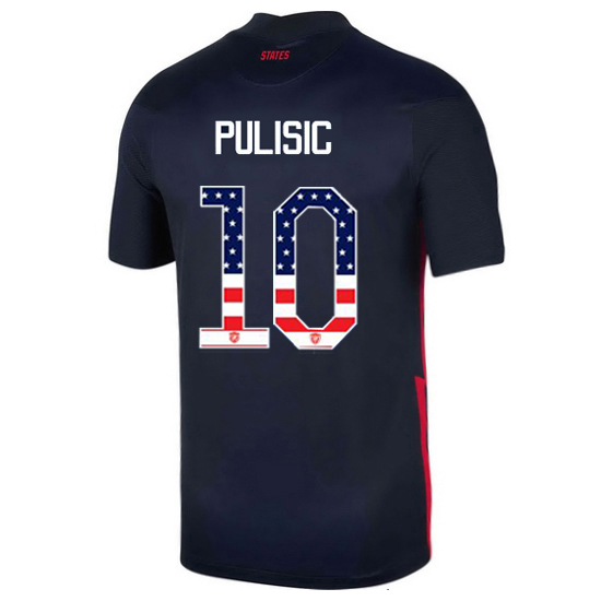 Away Christian Pulisic 20/21 Men's Stadium Jersey Independence Day