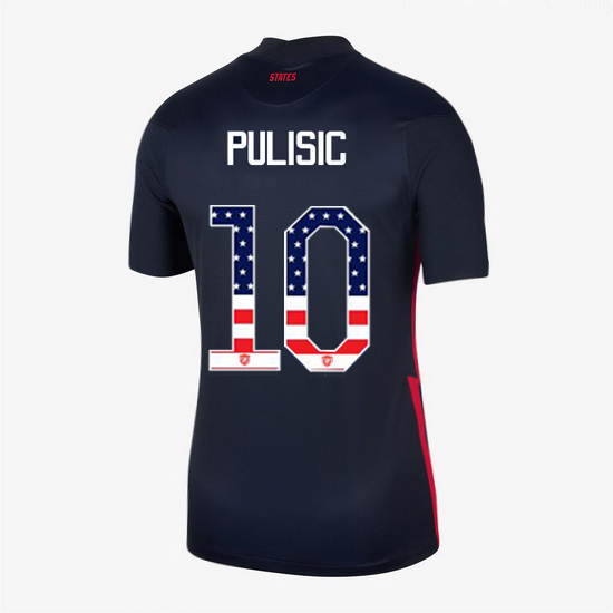 Navy Christian Pulisic 2020 Women's Stadium Jersey Independence Day