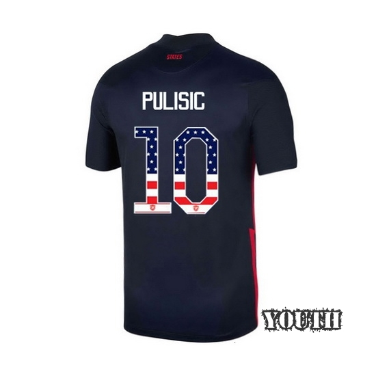 Away Christian Pulisic 2020/21 Youth Stadium Jersey Independence Day