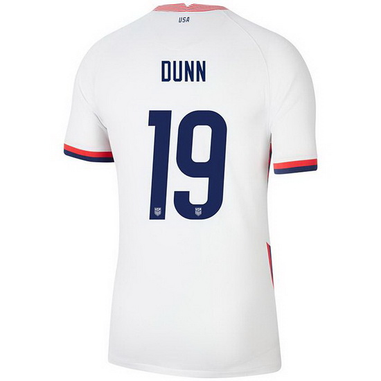 USA White Crystal Dunn 2020 Men's Stadium Soccer Jersey