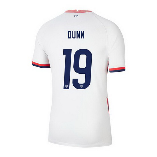 USA White Crystal Dunn 2020/2021 Youth Stadium Soccer Jersey