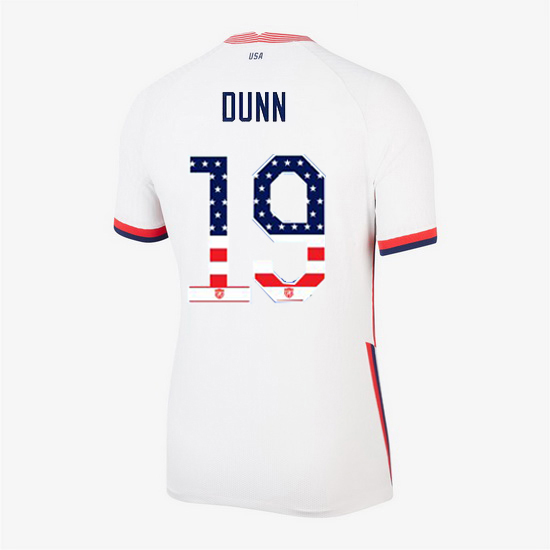 White Crystal Dunn 2020 Women's Stadium Jersey Independence Day