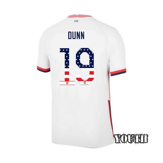 Home Crystal Dunn 2020/21 Youth Stadium Jersey Independence Day