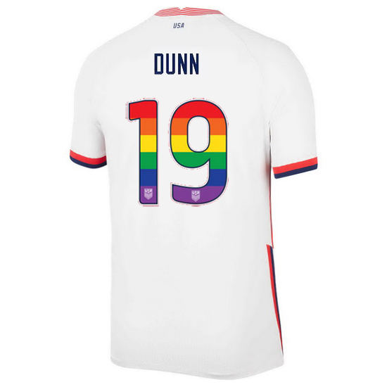 White Crystal Dunn 2020/2021 Men's Stadium Rainbow Number Jersey
