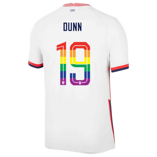 USA Home Crystal Dunn 2020/21 Men's Stadium PRIDE Jersey