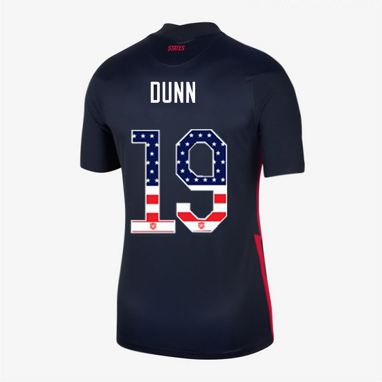 Navy Crystal Dunn 2020 Women's Stadium Jersey Independence Day
