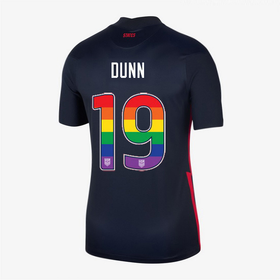Away Crystal Dunn 20/21 Women's Stadium Rainbow Number Jersey