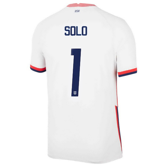 USA White Hope Solo 2020 Men's Stadium Soccer Jersey