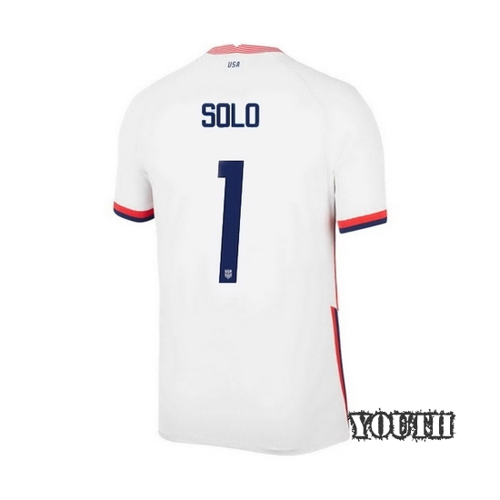 USA White Hope Solo 2020/2021 Youth Stadium Soccer Jersey