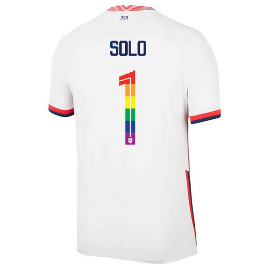 USA Home Hope Solo 2020/21 Men's Stadium PRIDE Jersey