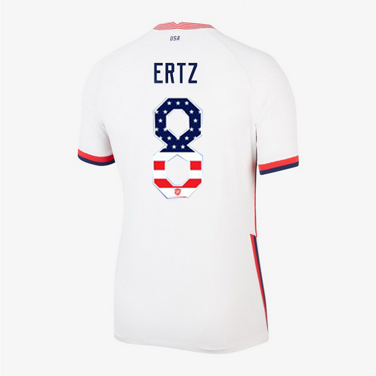 White Julie Ertz 2020 Women's Stadium Jersey Independence Day