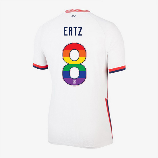 Home Julie Ertz 20/21 Women's Stadium Rainbow Number Jersey