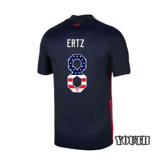 Away Julie Ertz 2020/21 Youth Stadium Jersey Independence Day