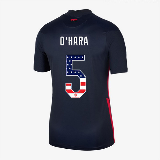 Navy Kelley O'Hara 2020 Women's Stadium Jersey Independence Day