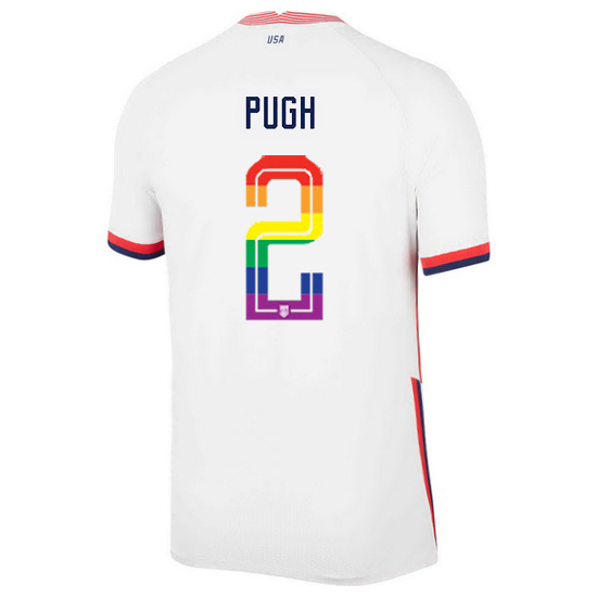 USA Home Mallory Pugh 2020/21 Men's Stadium PRIDE Jersey