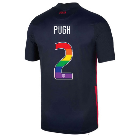 Navy Mallory Pugh 2020/2021 Men's Stadium Rainbow Number Jersey
