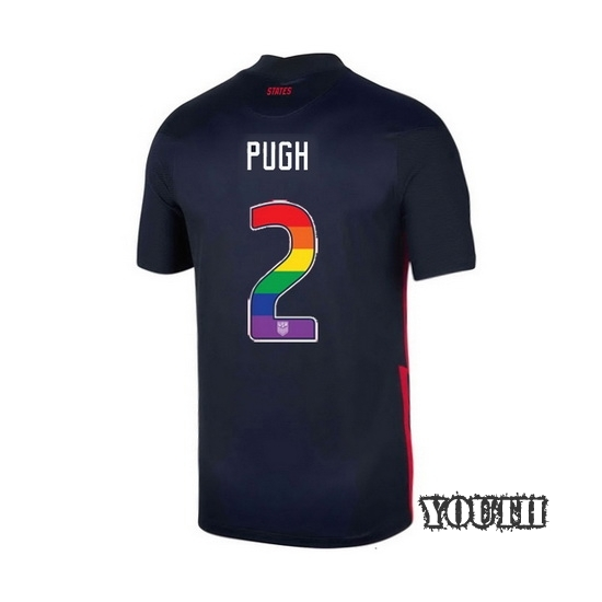 Navy Mallory Pugh 2020 Youth Stadium Rainbow Number Jersey
