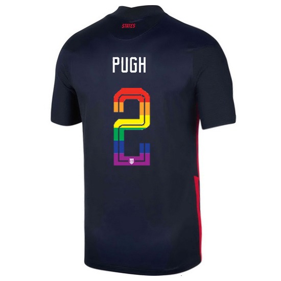 USA Away Mallory Pugh 2020/21 Men's Stadium PRIDE Jersey