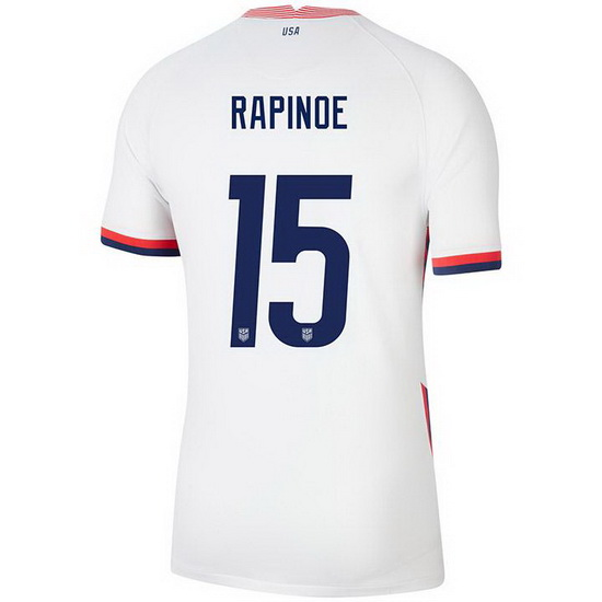 USA White Megan Rapinoe 2020 Men's Stadium Soccer Jersey