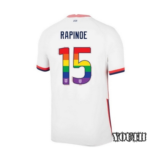 White Megan Rapinoe 2020 Youth Stadium Rainbow Number Jersey