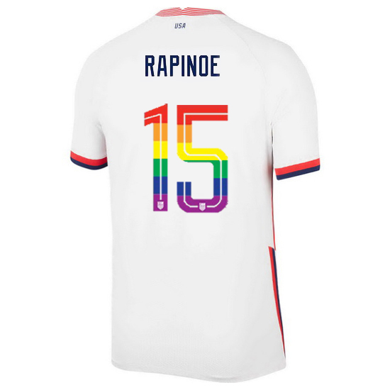 USA Home Megan Rapinoe 2020/21 Men's Stadium PRIDE Jersey