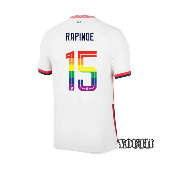 USA Home Megan Rapinoe 20/21 Youth Stadium PRIDE Jersey