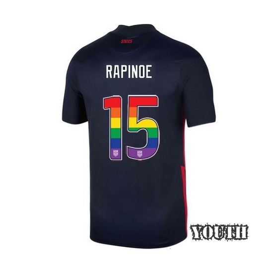Navy Megan Rapinoe 2020 Youth Stadium Rainbow Number Jersey