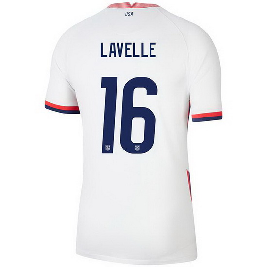 USA White Rose Lavelle 2020 Men's Stadium Soccer Jersey