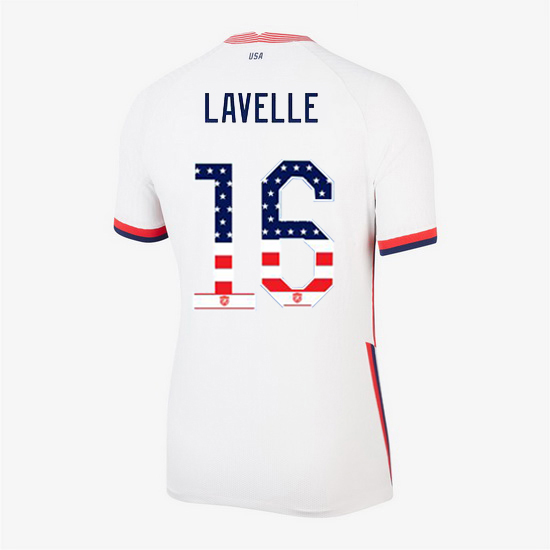 White Rose Lavelle 2020 Women's Stadium Jersey Independence Day