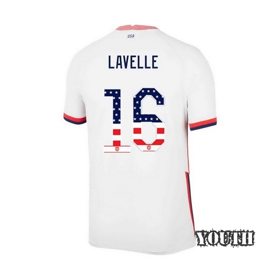 Home Rose Lavelle 2020/21 Youth Stadium Jersey Independence Day