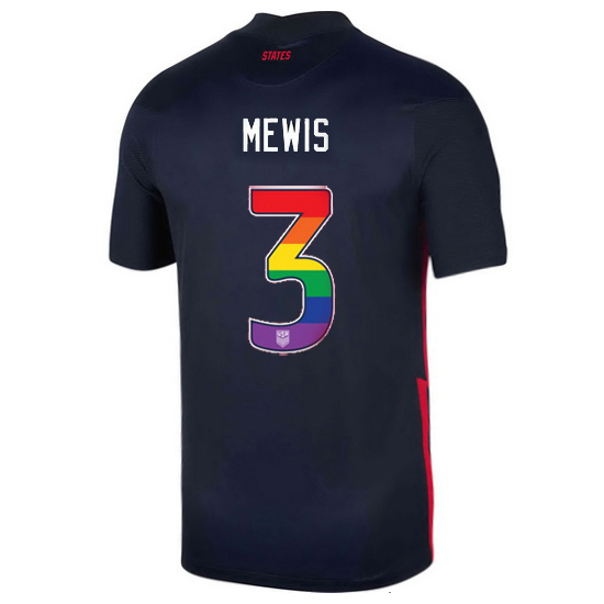 Navy Samantha Mewis 2020/2021 Men's Stadium Rainbow Number Jersey