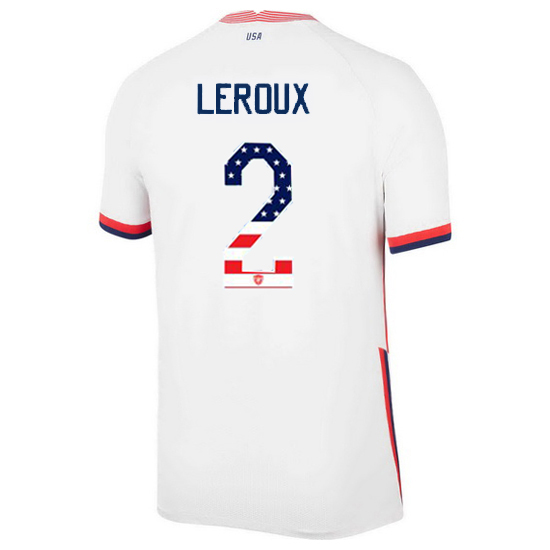 Home Sydney Leroux 20/21 Men's Stadium Jersey Independence Day